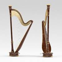3d harp g model
