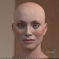 lotte verbeek head female 3d max