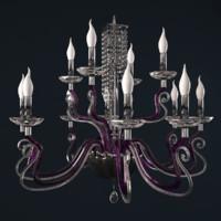 3d chandelier venice superlux l12 model