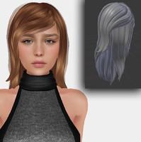 3d mesh hair model