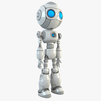 robot character android 3d max