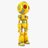 robot character bot 3d max