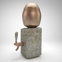 3d model stone bar drinkers