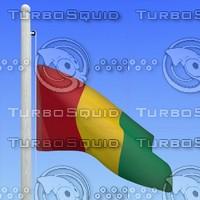 flag guinea - loop 3d max