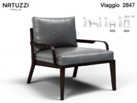 armchair viaggio 3d model