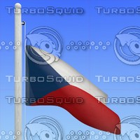 flag czech republic - 3d max