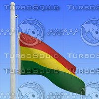 3d model flag bolivia - loop