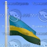 flag rwanda - loop 3d model