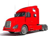 semi truck 3d dwg