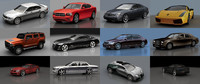 Low Poly sedan cars