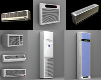 split air conditioner 3ds