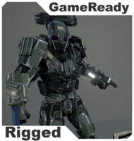 soldier exoskeleton pbr 3d model