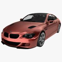 bmw 6 m6 car 3d model