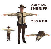 3d sheriff man
