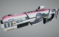 3d obj specular laser rifle