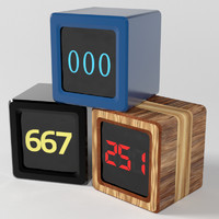 time cube number counters 3d model