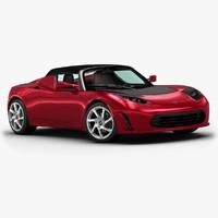2013 tesla roadster 3d 3ds