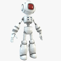 3d robot character humanoid model