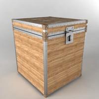 3d chest wood model