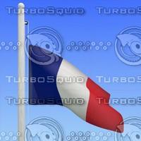 flag france - loop 3d model