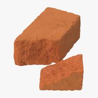 bricks broken 01 3d model