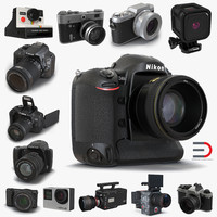 3d model cameras set photo