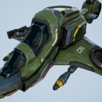 scout ship - unreal 3d model