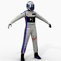 3d model of virgin formula e driver