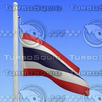 3d model flag thailand - loop