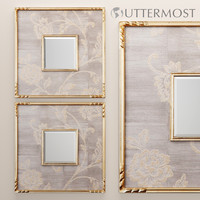 evelyn square mirror uttermost 3d model