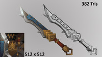 3d model hand painted sword