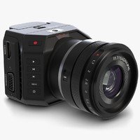 3d model blackmagic micro camera lens