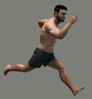 realistic male body - 3d max