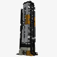 - sci fi building 3d model