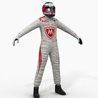 dragon formula e driver 3d model