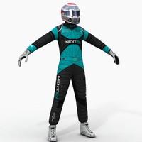 3d nextev formula e driver