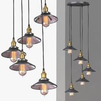 chandelier 5 loft 3d model