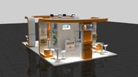 3d fair exhibition wooden stand
