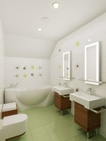 modern bathroom interior 5 3d max