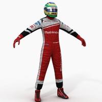 mahindra formula e driver 3d model