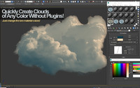 cloud photoreal real 3d obj