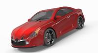 3d car concept sport model