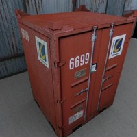 3d model red shipping container