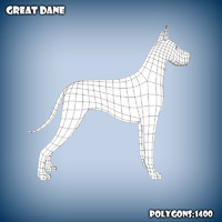 3d base mesh great dane