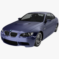 3d bmw coupe e92 sport car