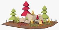 3d landscape land model