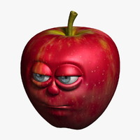 3d apple cartoon model