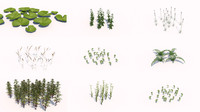 different plants 3d 3ds