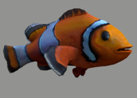 clownfish rigged 3d c4d