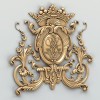 carved central decor 3d max